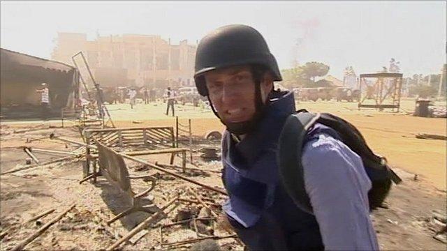 Rupert Wingfield-Hayes under fire in Tripoli