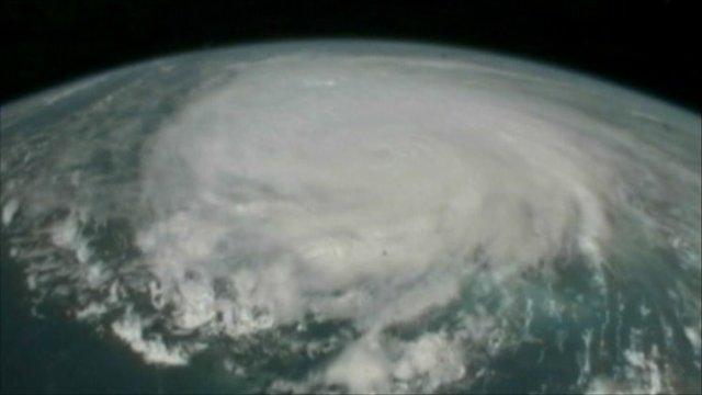Hurricane Irene from the air