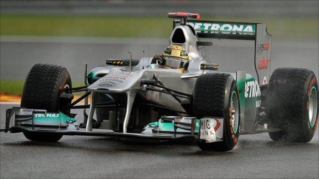 Michael Schumacher at Spa