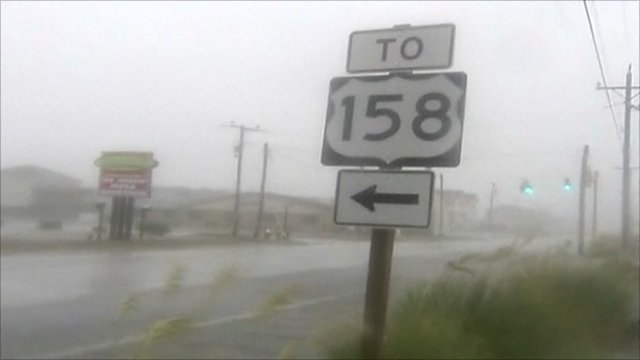 Hurricane Irene has hit North Carolina