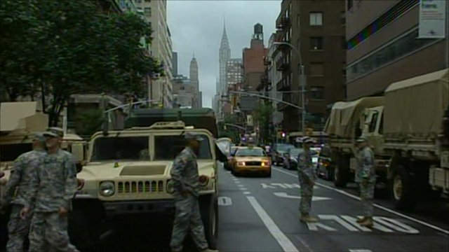 National Guard on New York streets