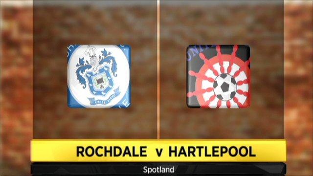 Rochdale 1-3 Hartlepool
