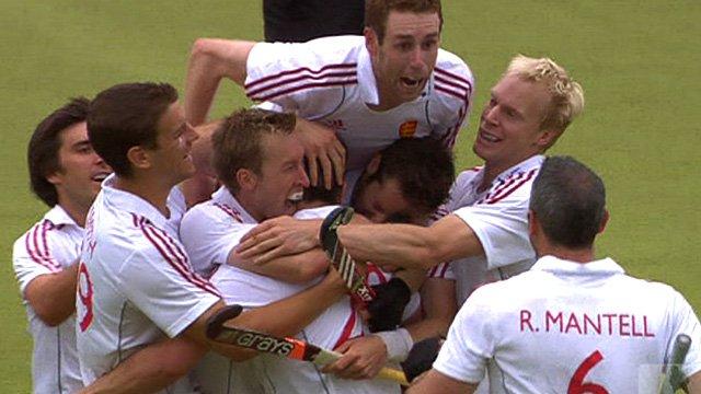 England celebrate winning bronze