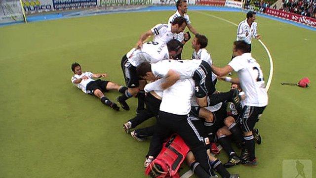 Germany celebrate beating Netherlands
