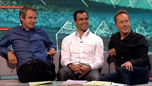 Alan Hansen, Roberto Martinez and Lee Dixon