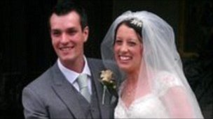 Ian and Gemma Redmond on their wedding day