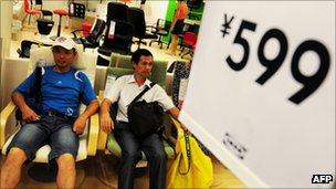 Ikea shoppers at a store in Beijing, China