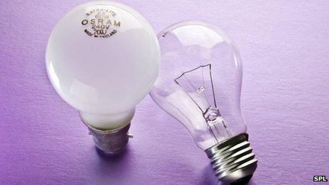 60W light bulbs