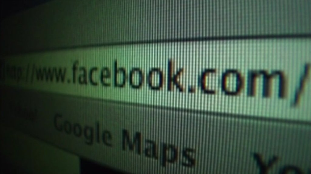 Facebook URL on a browser