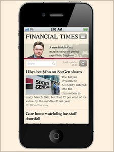 FT on iPhone