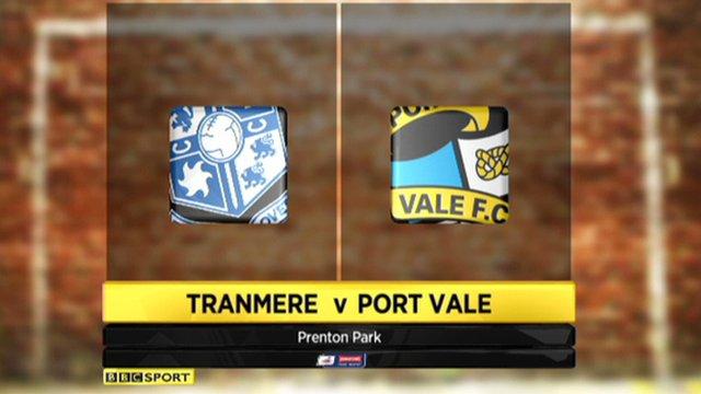 Tranmere 1-1- Port Vale