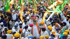 Sikh procession near the Golden Temple, Amritsar