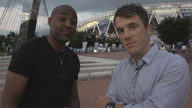 Darren Campbell & BBC Sport's Tom Fordyce