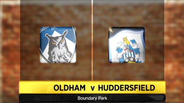 Oldham 1-1 Huddersfield