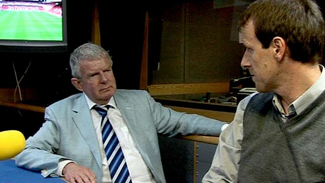 John Motson and Steve Claridge