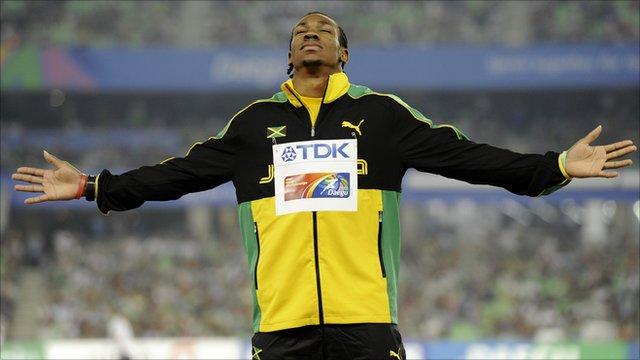 World 100m champion Yohan Blake