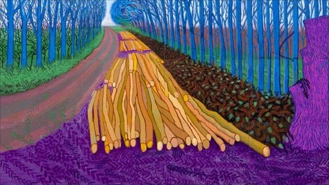 David Hockney: a Yorkshire road