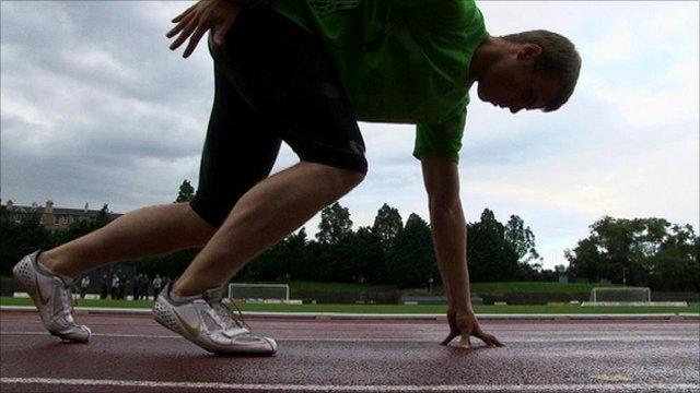 Scottish sprinter Tom Holligan
