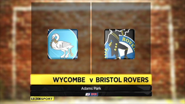 Wycombe 3-1 Bristol Rovers