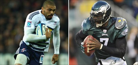 Bryan Habana and Michael Vick