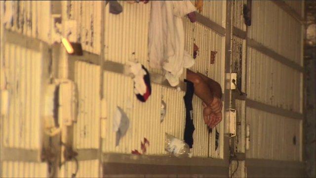 Prison cells in Tripoli