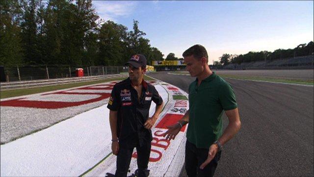 Jaime Alguersuari and David Coulthard