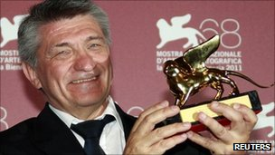 Alexander Sokurov with his Golden Lion in Venice - 10 September 2011