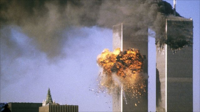 Fire in south tower of World Trade Center