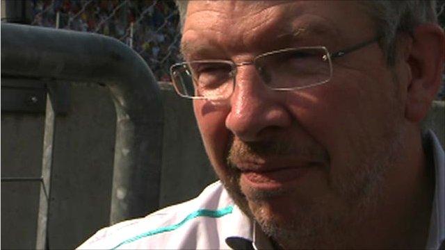 Mercedes GP team principal Ross Brawn
