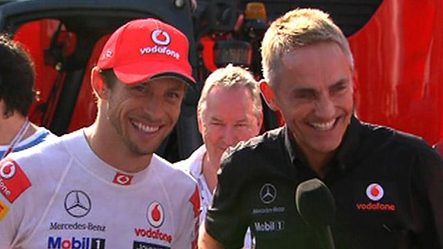 Jenson Button and Martin Whitmarsh