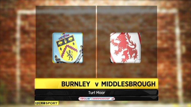 Burnley 0-2 Middlesbrough