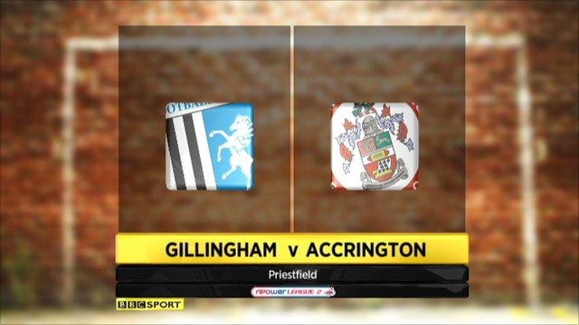 Gillingham 1-1 Accrington Stanley