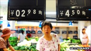 A consumer shopping in China