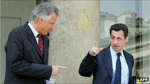 Dominique de Villepin and Nicolas Sarkozy