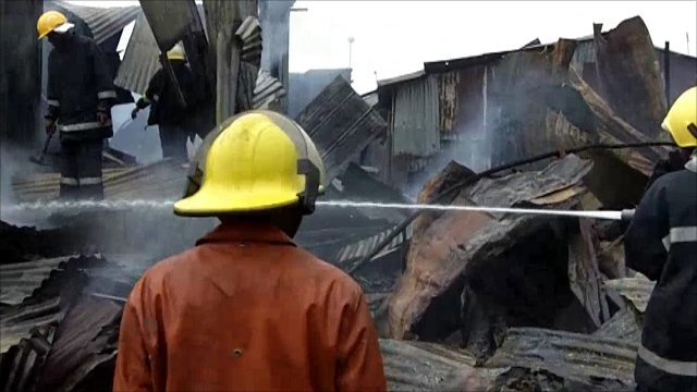 Kenyan firefighters