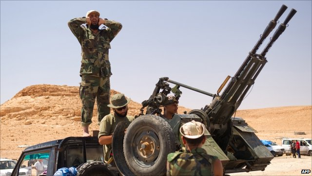 Rebels near bani Walid
