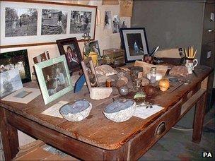 Roald Dahl's possessions in his hut