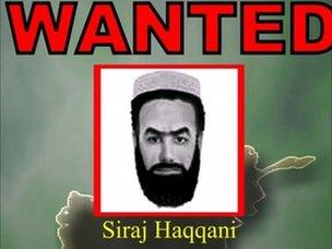 File wanted poster (2007) for Sirajuddin Haqqani