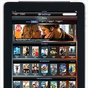 Seachange's Nitro software on an iPad