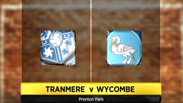 Tranmere 2-0 Wycombe