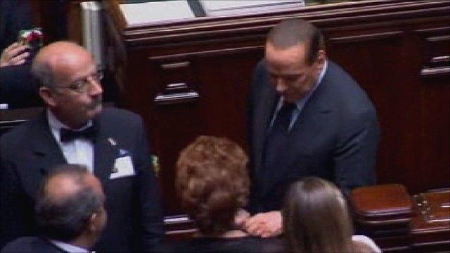 Silvio Berlusconi (far right)