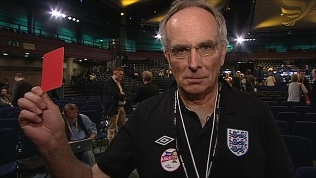 Peter Bone MP with red card