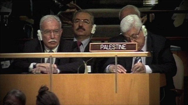 Palestinian Authority President Mahmoud Abbas at the United Nations