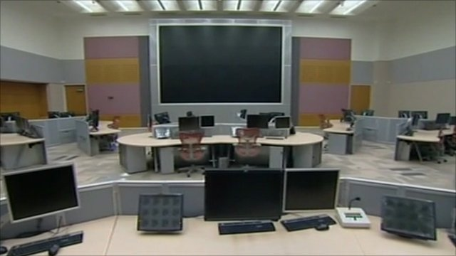 An unused regional 999 control centre