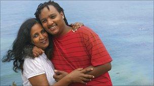 Zemi Yunus and her son Jojo