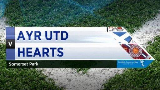Ayr United 1-1 Hearts (pens 4-1)