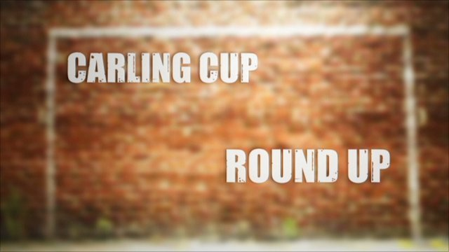 Wednesday's Carling Cup action in 90 seconds