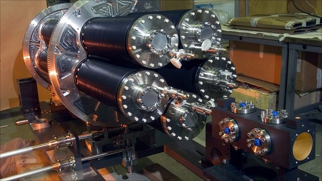 "Equipment at the Italian National Institute of Nuclear Physics INFN""s Gran Sasso Laboratory in Rome"