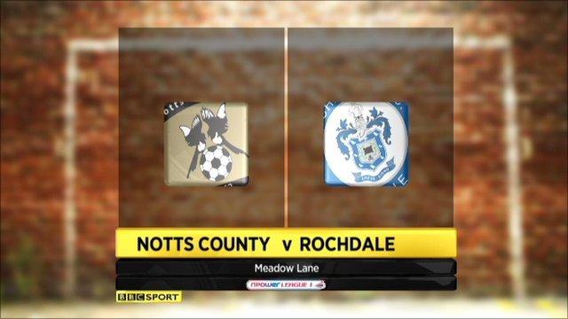 Notts County 2-0 Rochdale