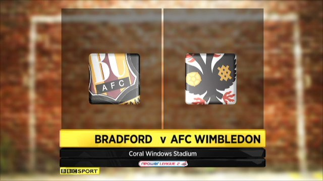Bradford 1-2 AFC Wimbledon